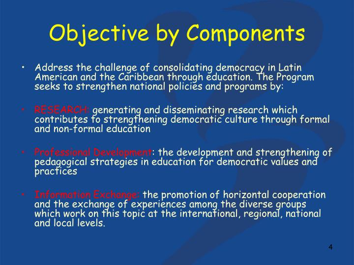Objective by Components