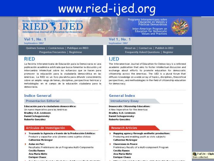 www.ried-ijed.org