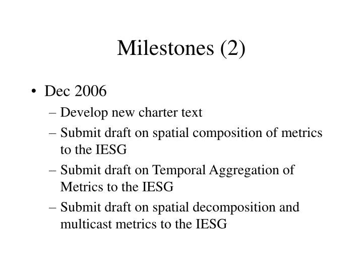 Milestones (2)