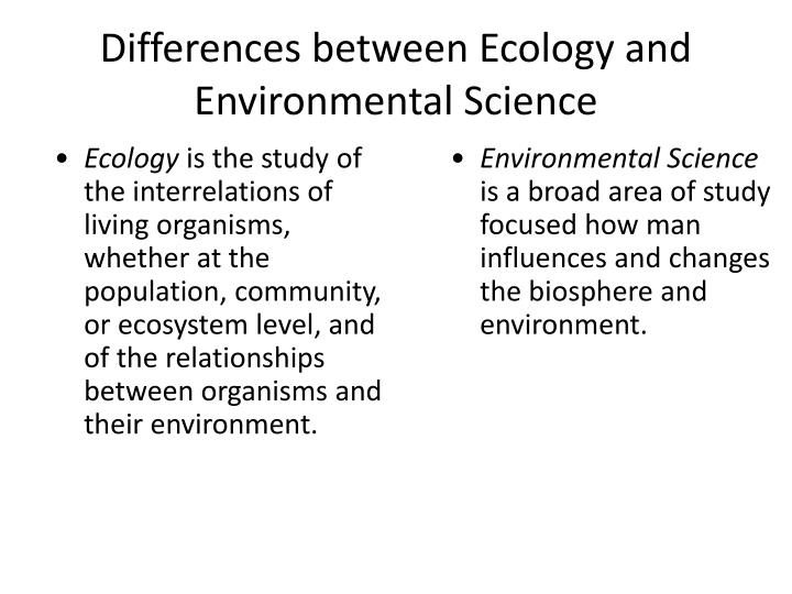 ecology and ecosystem difference