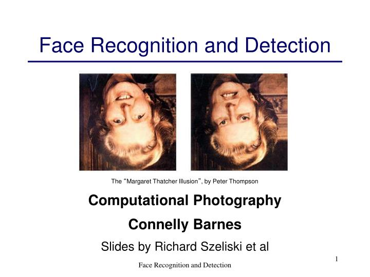 face recognition and detection n.