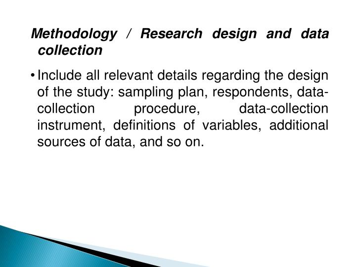 Methodology / Research design and data collection