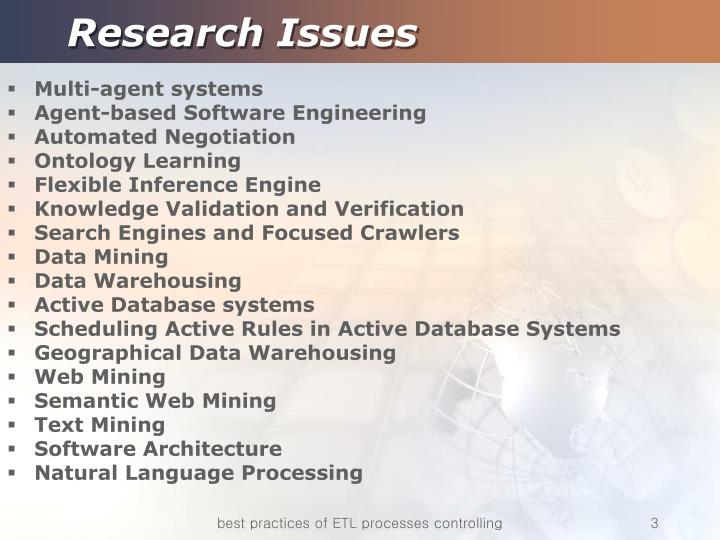 Research issues1