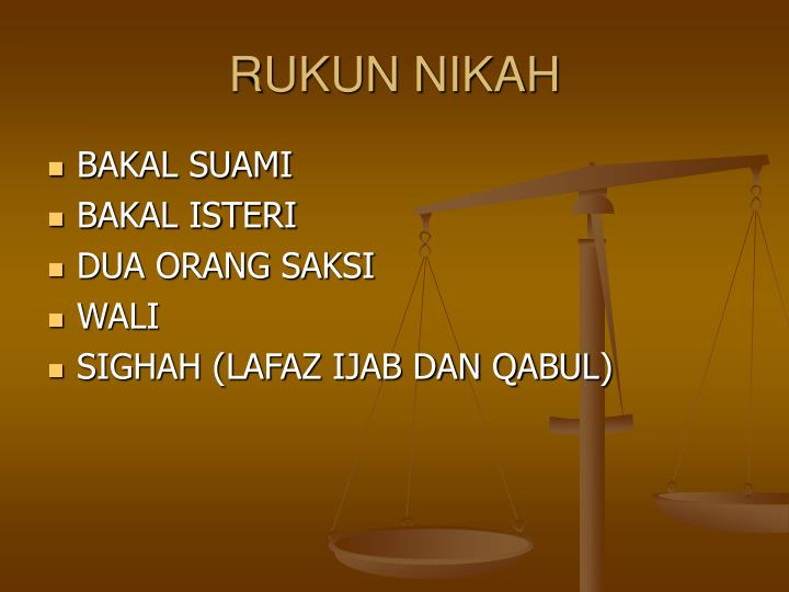 Ppt Rukun Nikah Mahar Dan Walimah Powerpoint Presentation Id 3605776