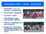 programas psico socio educativo