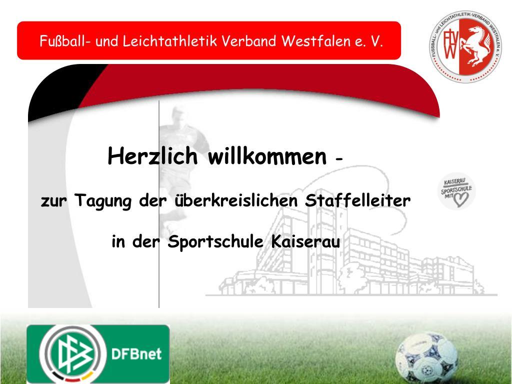 Fußball und Leichtathletik Verband Westfalen e.V.: Neues