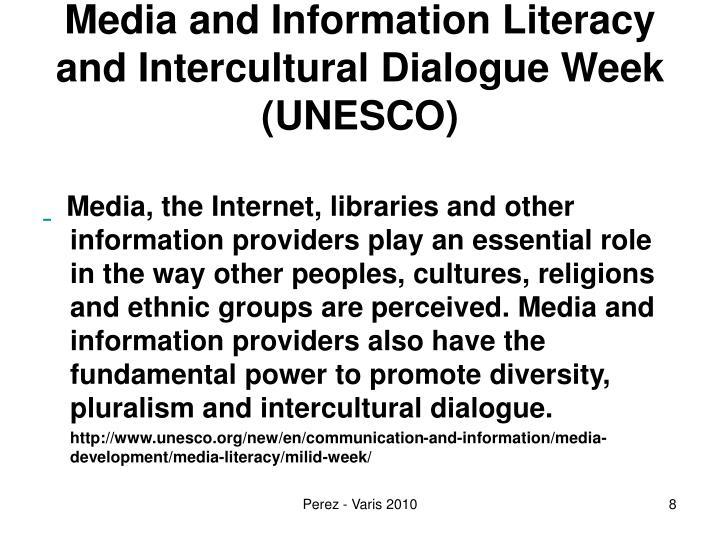 Media and Information Literacy and Intercultural Dialogue Week