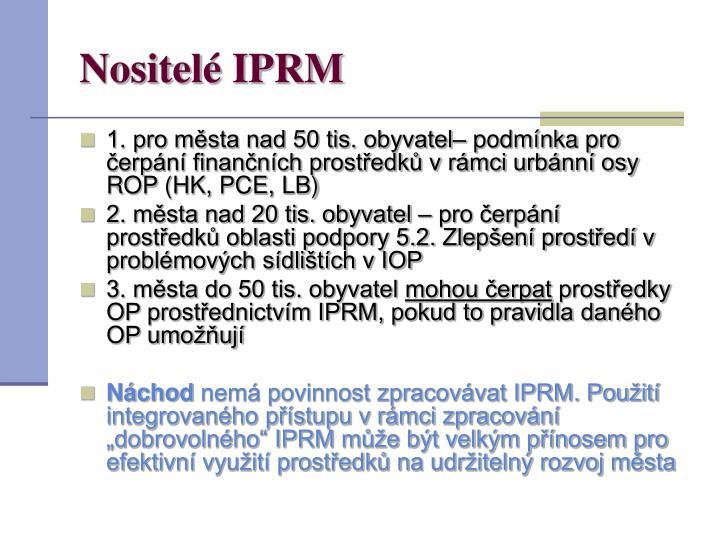 Nositelé IPRM