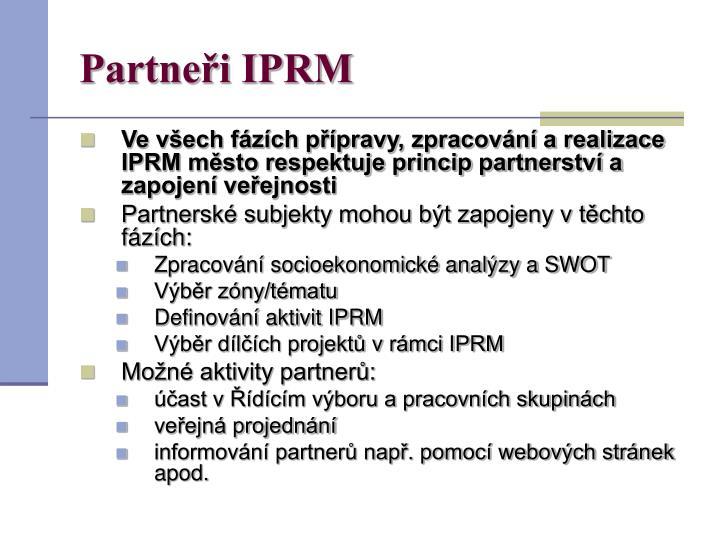 Partneři IPRM