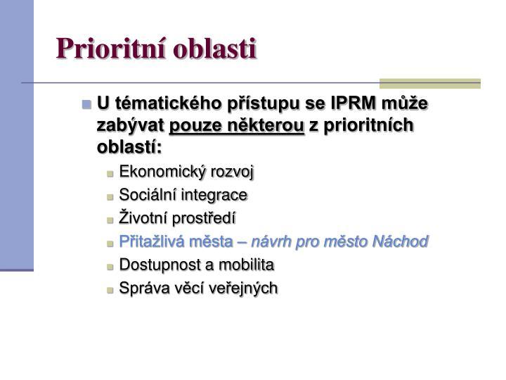 Prioritní oblasti