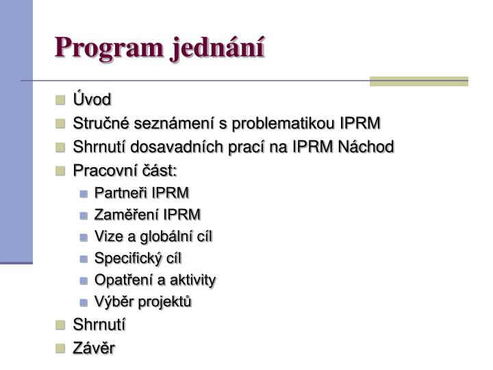 Program jedn n