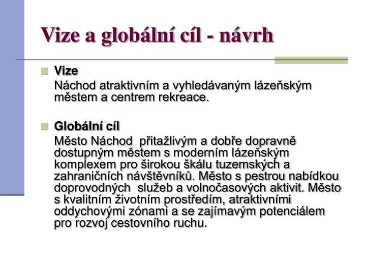 Vize a globální cíl - návrh