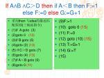 if a b c d then if a b then f 1 else f 0 else g g 1