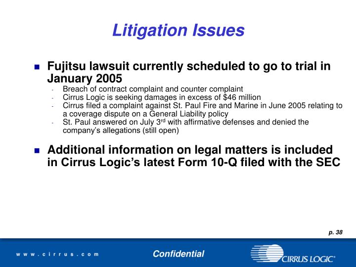 Litigation Issues