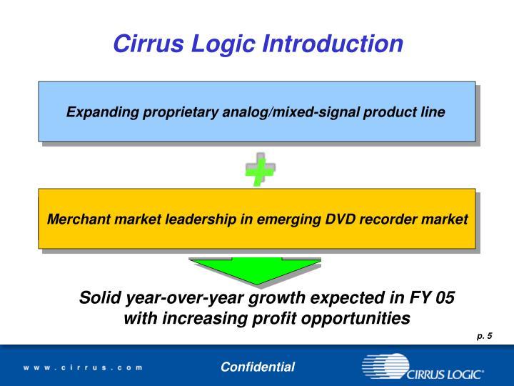 Cirrus Logic Introduction