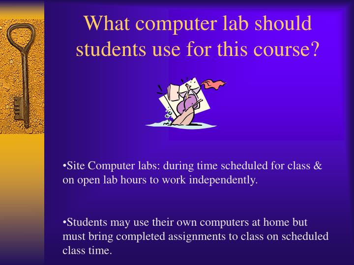 What computer lab should students use for this course?