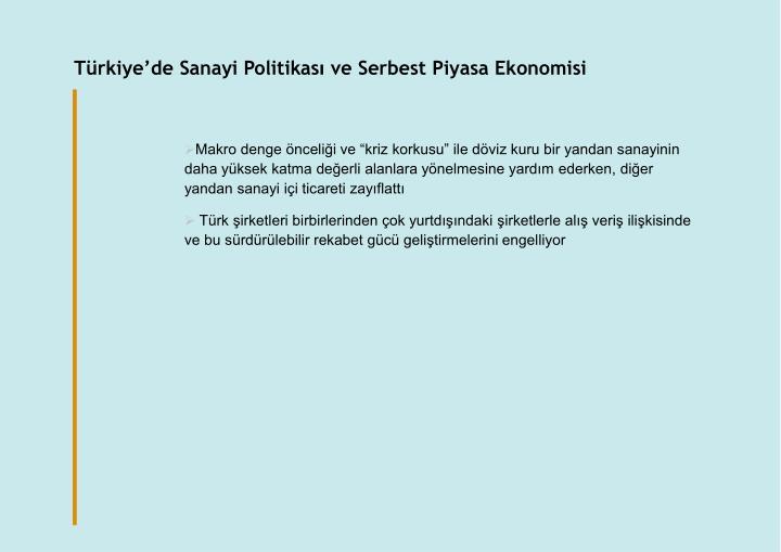Türkiye'de Sanayi Politikas