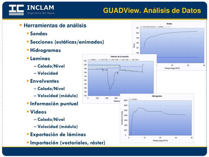 GUADView. Análisis de Datos
