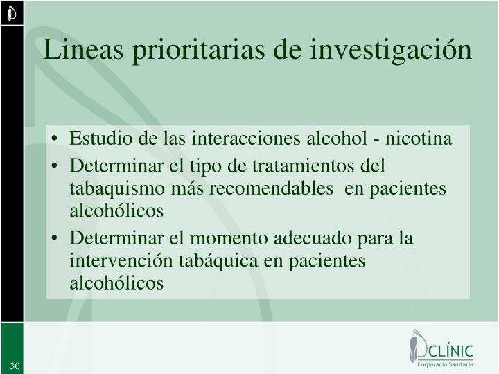 Lineas prioritarias de investigación
