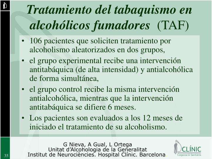 Tratamiento del tabaquismo en alcohólicos fumadores