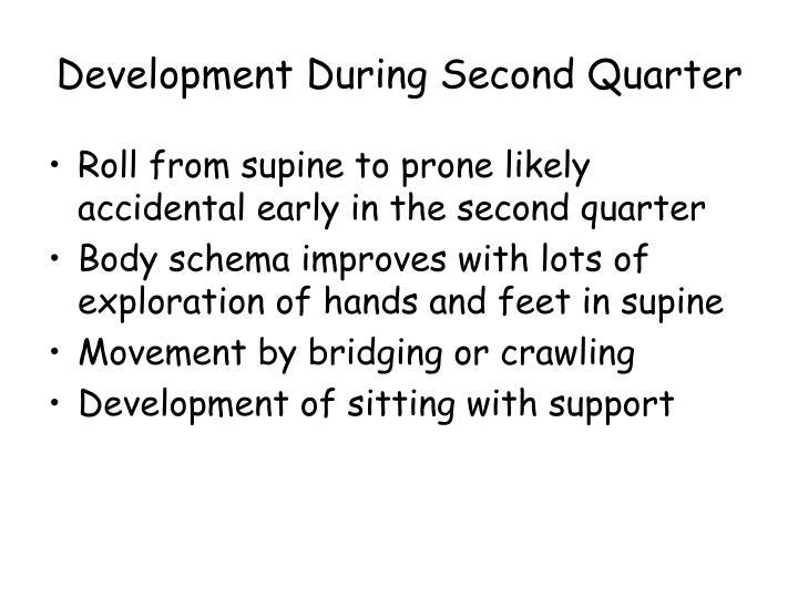 Development During Second Quarter