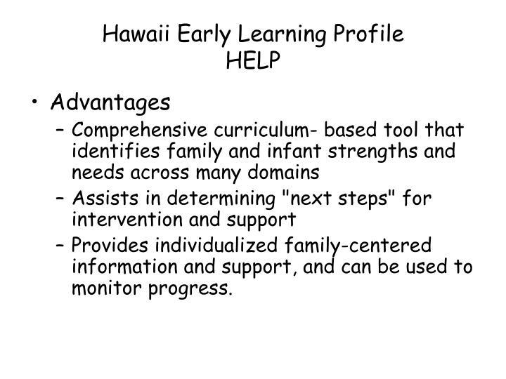 Hawaii Early Learning Profile