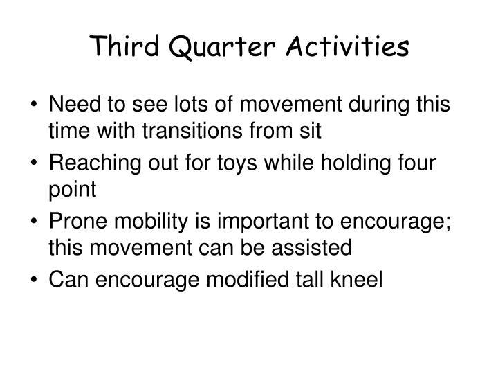 Third Quarter Activities