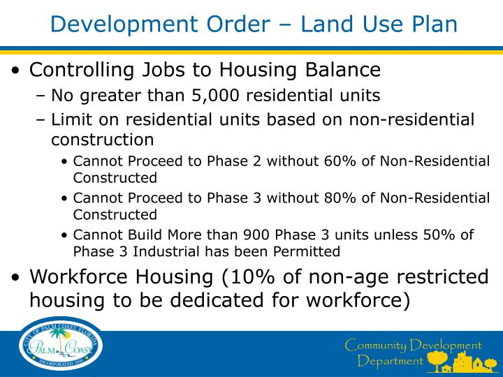 Development Order – Land Use Plan