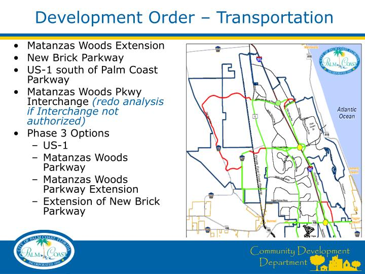 Development Order – Transportation