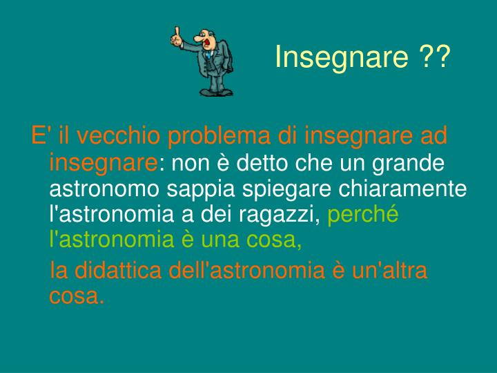insegnare n.
