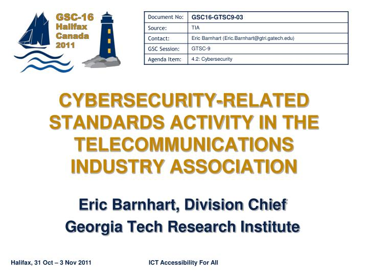 cybersecurity related standards activity in the telecommunications industry association n.