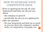 how to increase your competitive edge