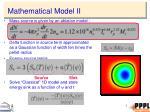 mathematical model ii