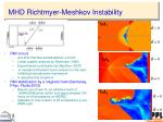 mhd richtmyer meshkov instability