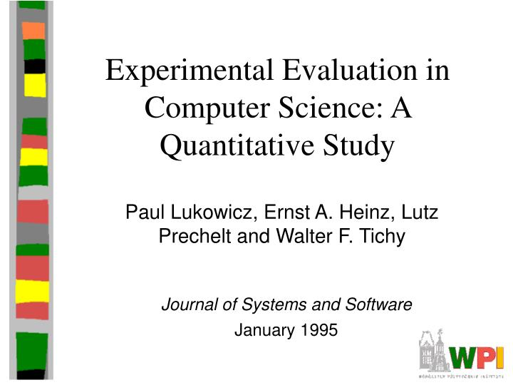 an evaluation of the computer science field Methodological review of computer science education research 136 introduction one of the most influential books on computer science.