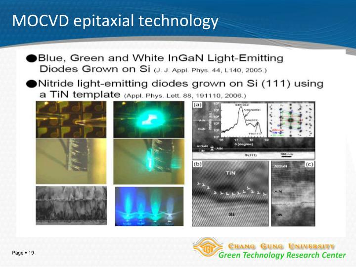 MOCVD epitaxial technology