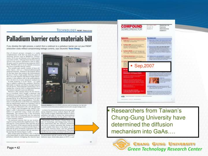 Researchers from Taiwan's Chung-Gung University have determined the diffusion mechanism into GaAs….