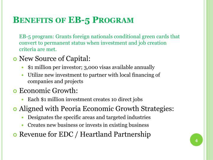 Benefits of EB-5 Program