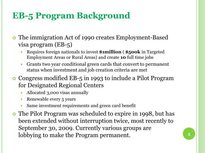 Eb 5 program background
