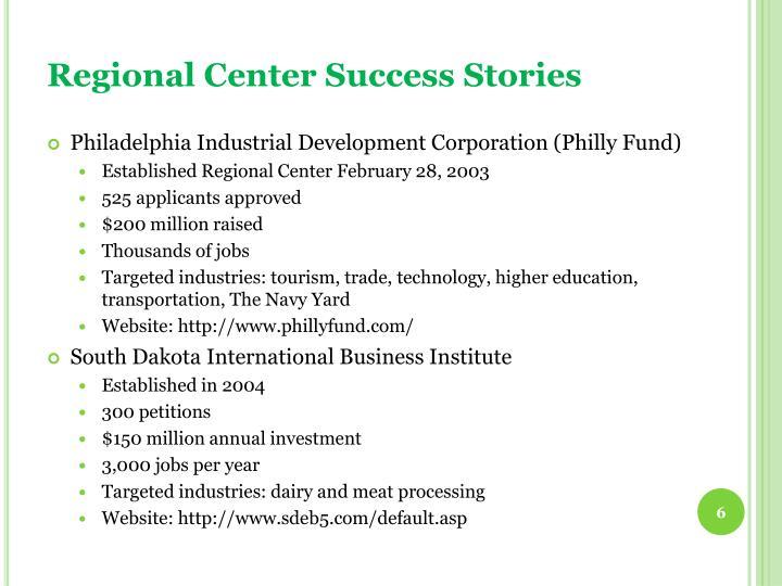 Regional Center Success Stories