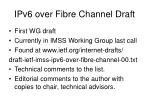 ipv6 over fibre channel draft