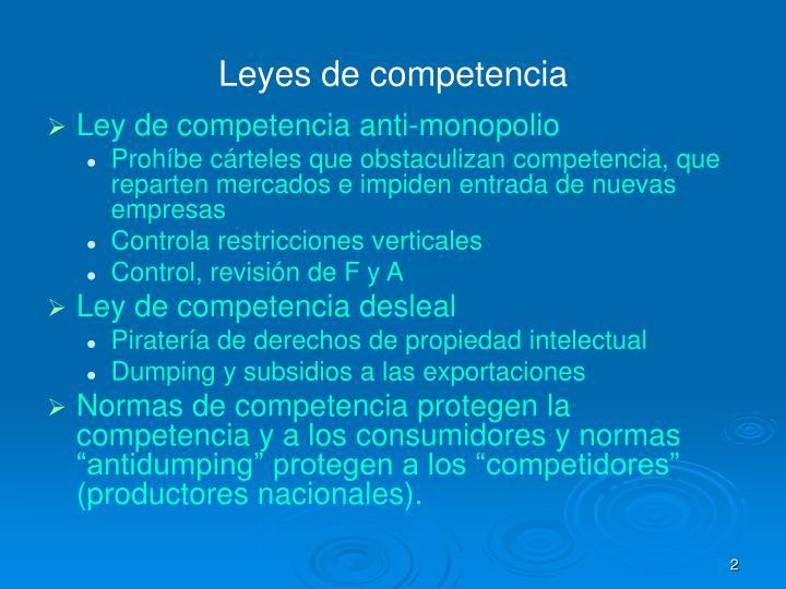 Leyes de competencia