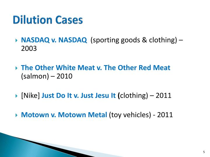 Dilution Cases