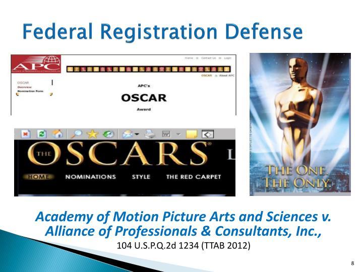 Federal Registration Defense