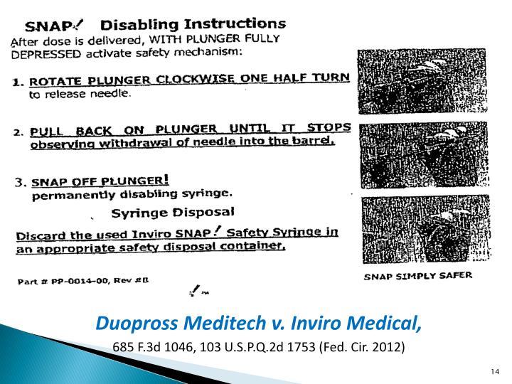 Duopross Meditech v. Inviro Medical,