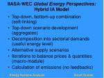 iiasa wec global energy perspectives hybrid ia model