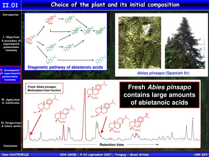 Choice of the plant and its initial composition