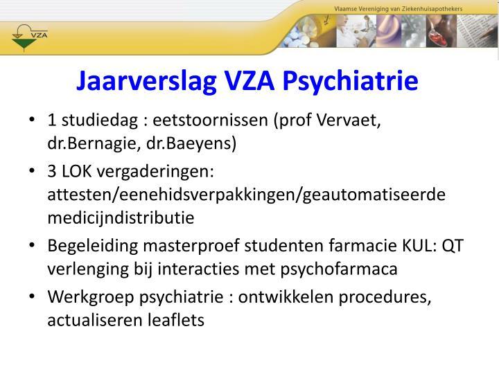 Jaarverslag VZA Psychiatrie