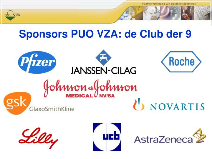 Sponsors PUO VZA: de Club der 9