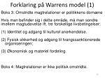 forklaring p warrens model 1